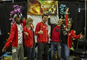 The SmuggleCraft development team from left: TJ, Carol, Joey, Ben, and Dana